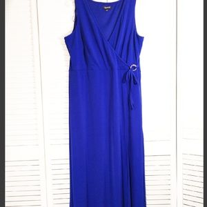 Glamour Royal Blue Faux-wrap Maxi Dress 16
